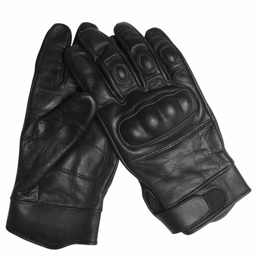 Tactical Gloves Leder schwarz in XL